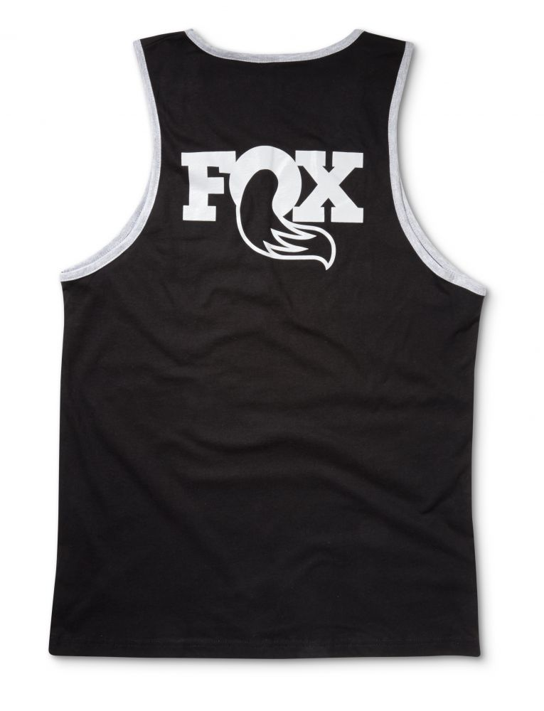 FOX Men''s Heritage Tank 100% Cotton Black/Grey, versch. Grössen