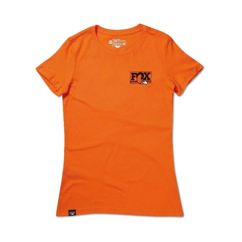 2015  FOX Women''s Heritage Crew Neck Tee  100% Cotton  Orange  M