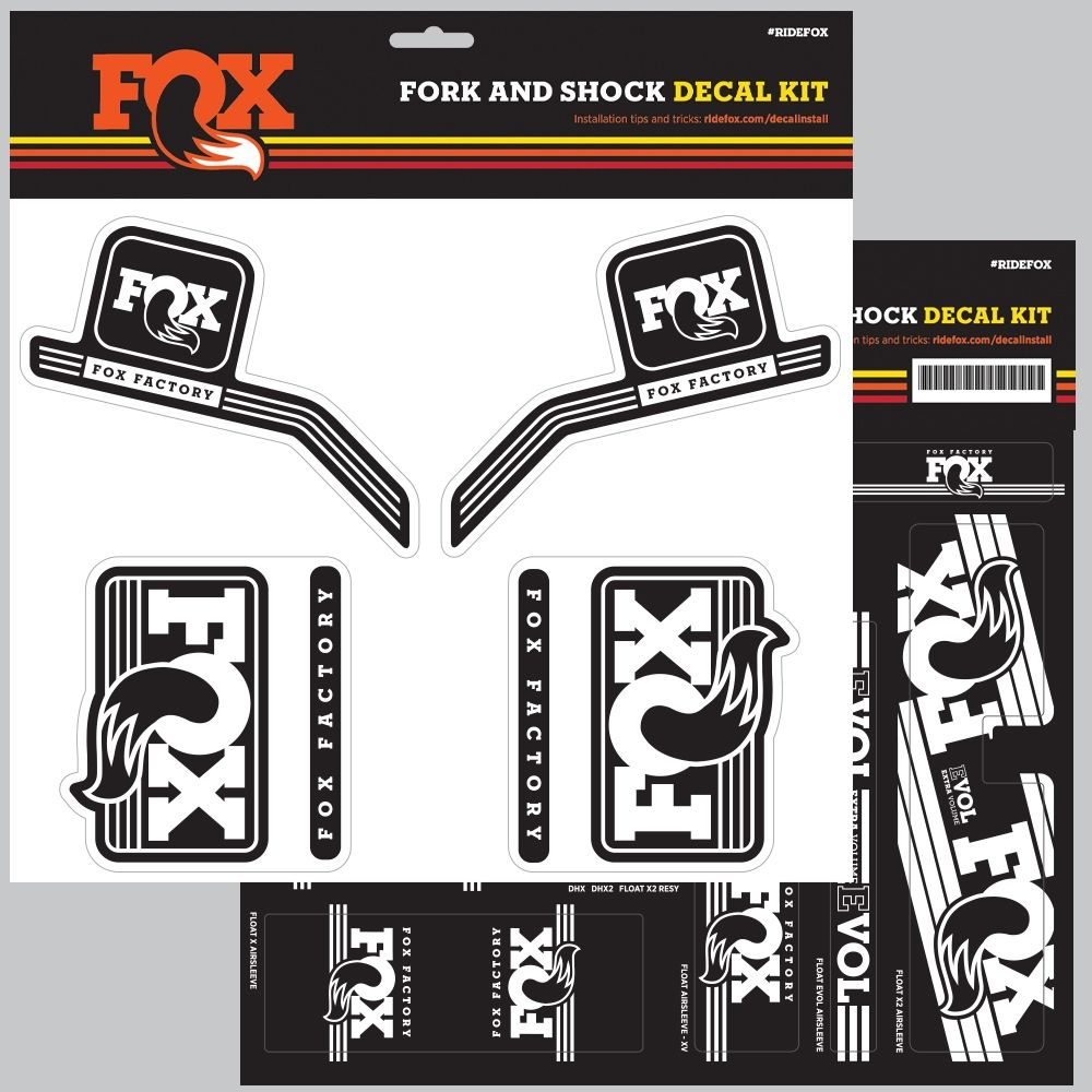 FOX Decal 2016 AM Heritage Fork and Shock Kit White