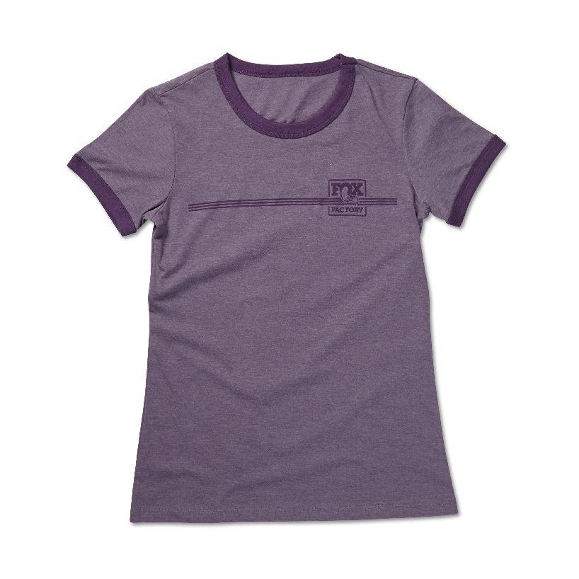 2015  FOX Women''s Heritage Ringer Tee  52% Cotton/48% Poly  Heather Purple/Purple  S