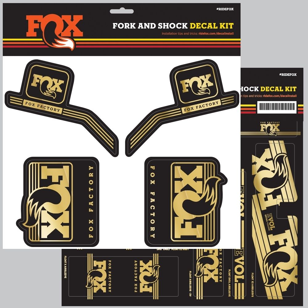 FOX Decal 2016 AM Heritage Fork and Shock Kit Gold