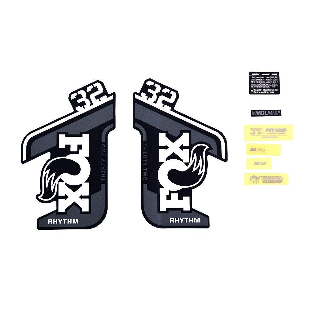 Decal Kit: 2021 32 Rhythm Gray Logo Rhythm Fork