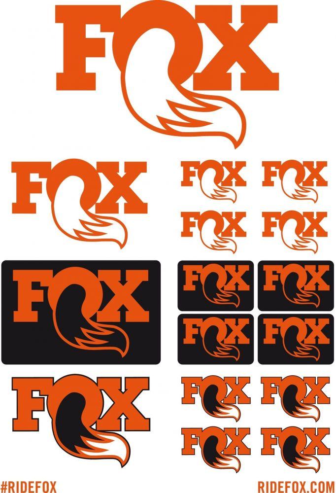 2017 FOX STICKER KIT (16 Logos) DIN-A5 3-farbig