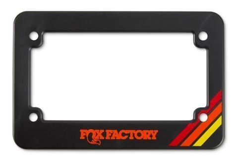FOX Heritage Motorcycle License Plate Frame Black