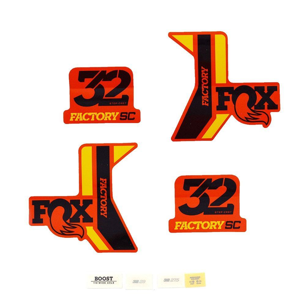 Decal Kit: 2017 32 SC Factory BLK/Yellow Orange Bkgrnd