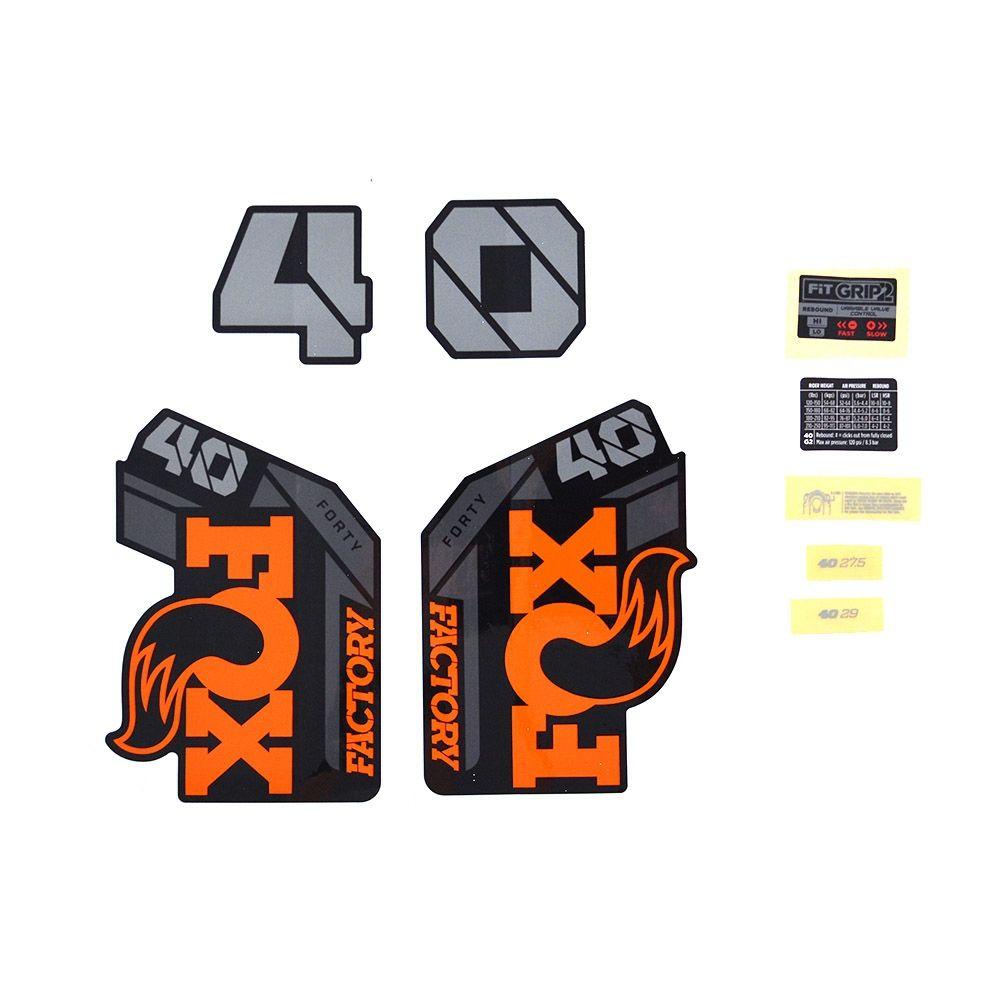Decal Kit: 2021 40 F-S Orange Logo Shiny Black Fork