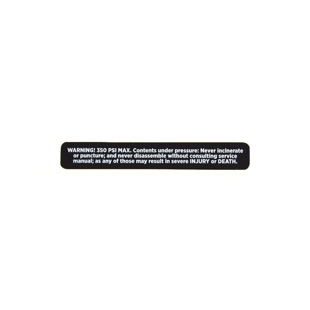 Decal 350 PSI Max Eyelet Decal with Warning