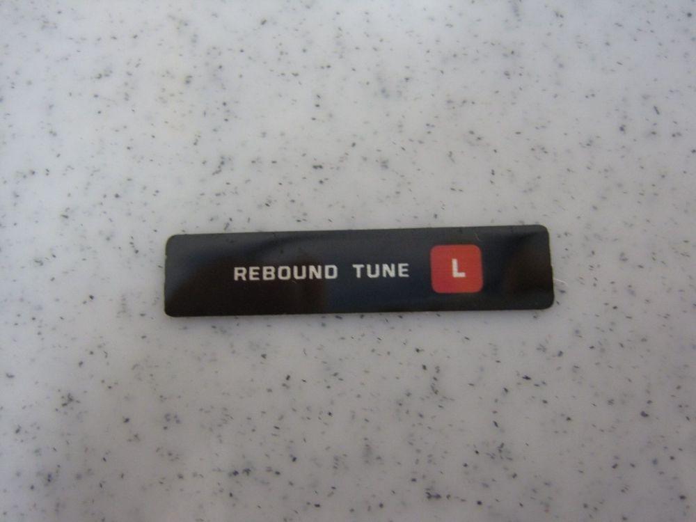 Decal: Rebound Tune Light
