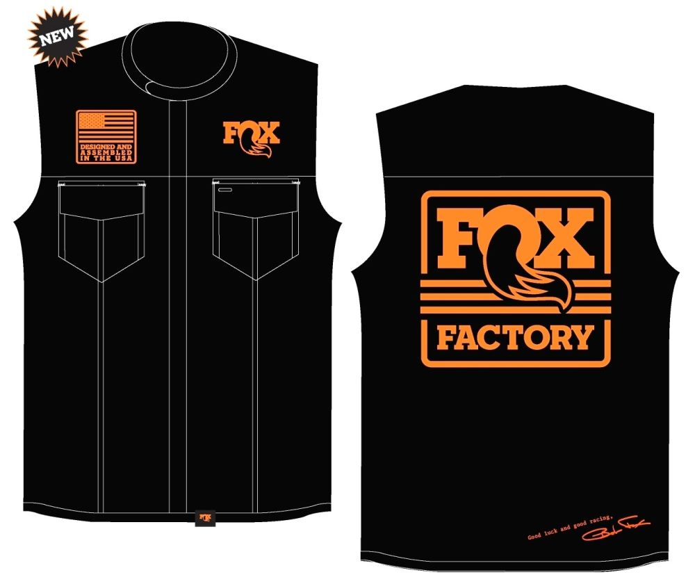 FOX Men''s Leather Moto Vest, Black/Orange, versch. Grössen