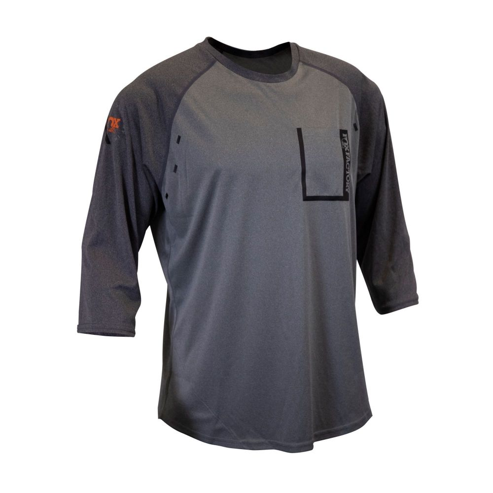 FOX Grade 3/4 Slv Jersey GREY