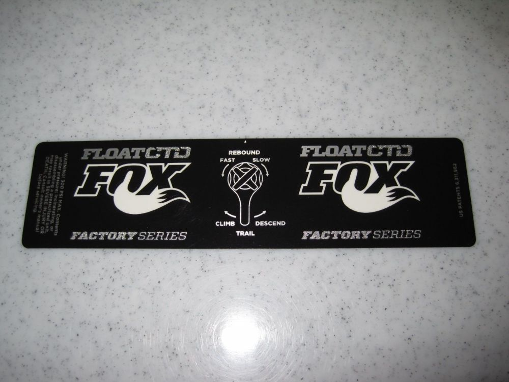 Decal: 2013 FLOAT Factory Series CTD Dish, No Gold 6.5+