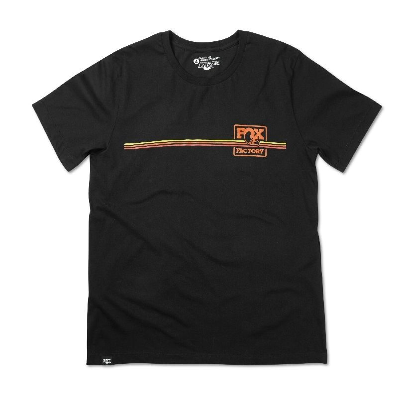 2015 FOX Men''s Heritage Stripe Tee 100% Cotton Black S