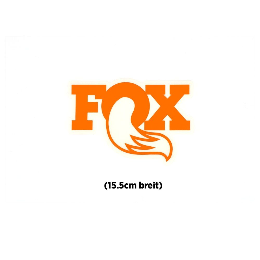 "FOX Original Logo Promo Decal 6"" Orange"