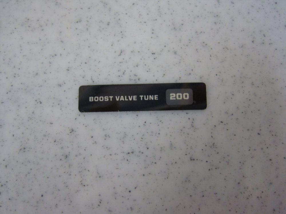 Decal: Boost Valve Tune 200