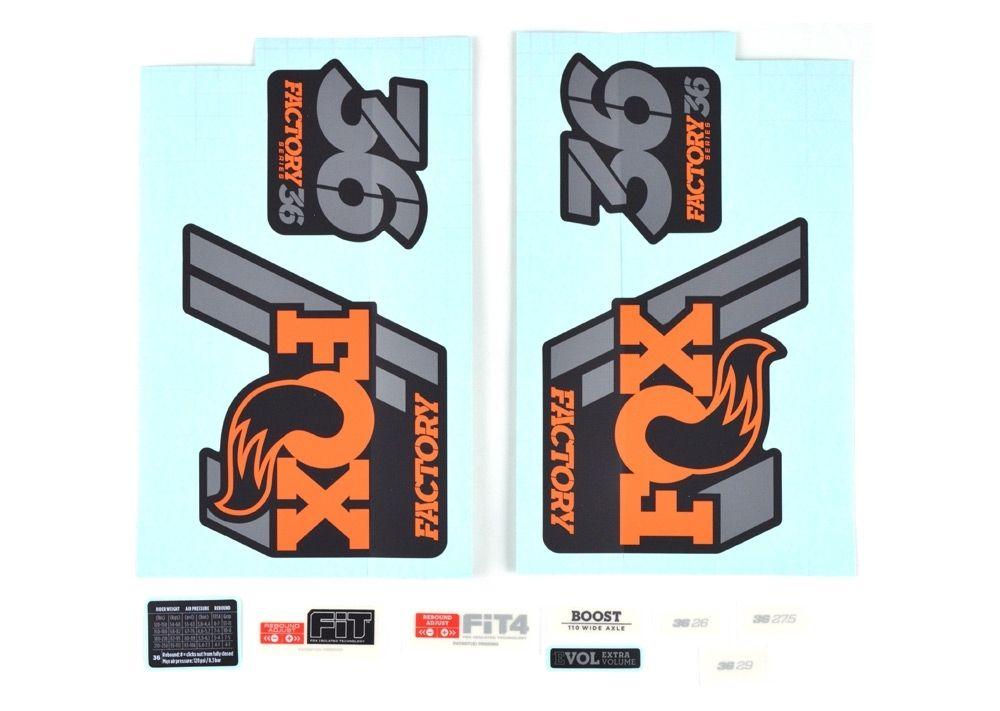 Decal Kit: 2020 36 F-S Orange Logo Matte Black Background