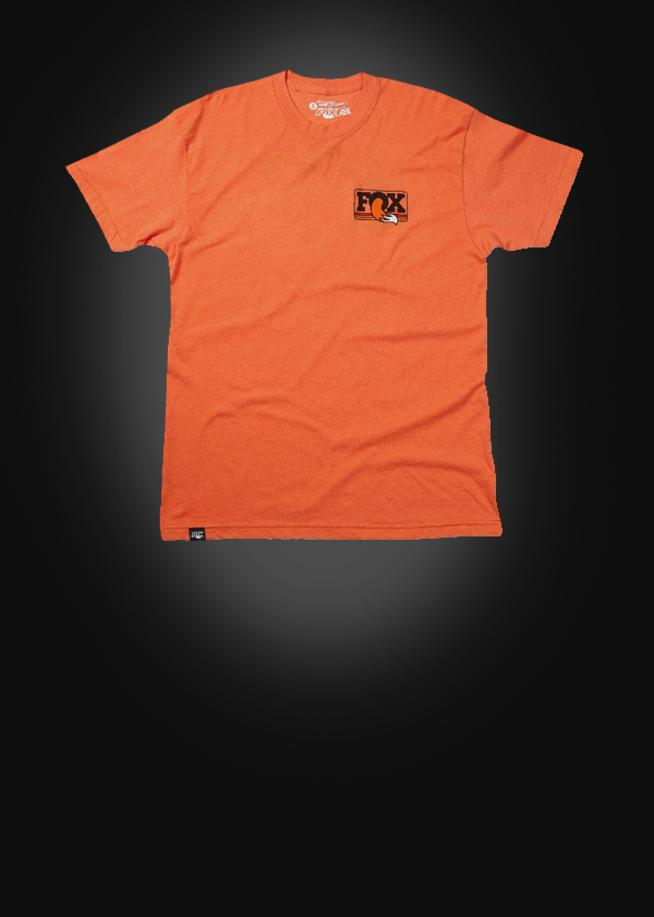 FOX Men''s Heritage Crew Neck Tee  50% Cotton/50% Poly  Heather Orange , versch. Grössen