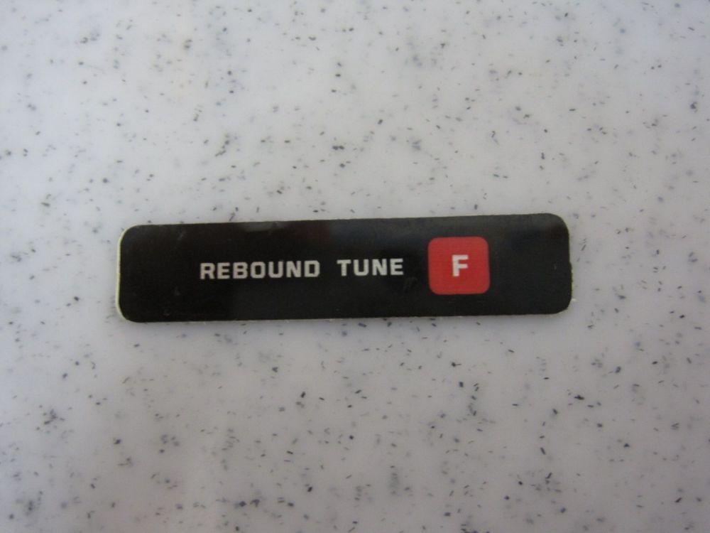Decal: Rebound Tune Firm