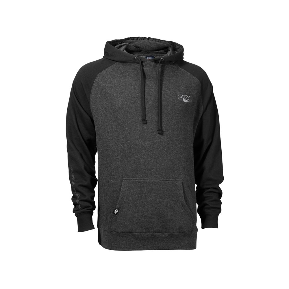 2015 Ride Unisex Pullover, 100% Cotton, Black/Charcoal Heather, XS