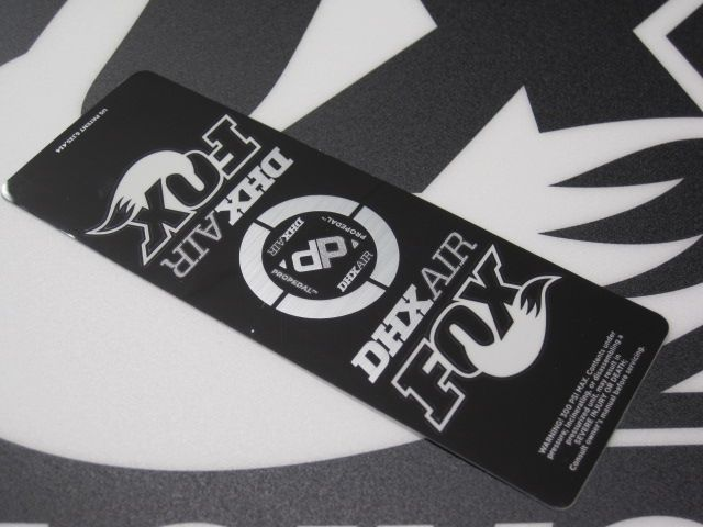 Decal: 2012 Factory DHX Air Std. Air Sleeve (No Gold)