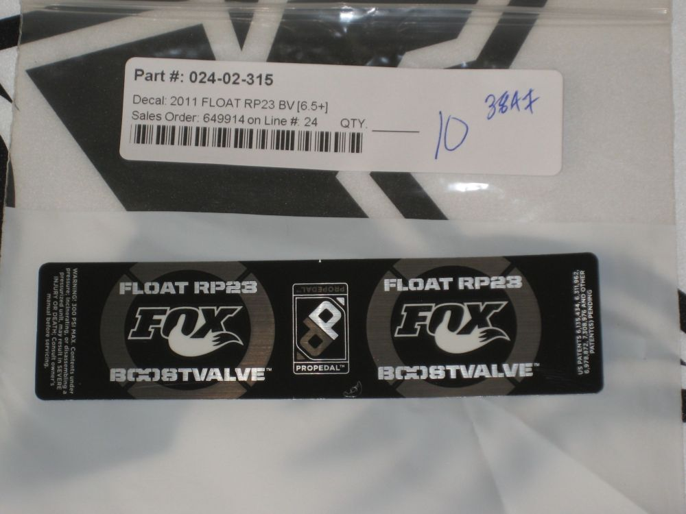 Decal: 2011 Float RP23 BV (6.5)