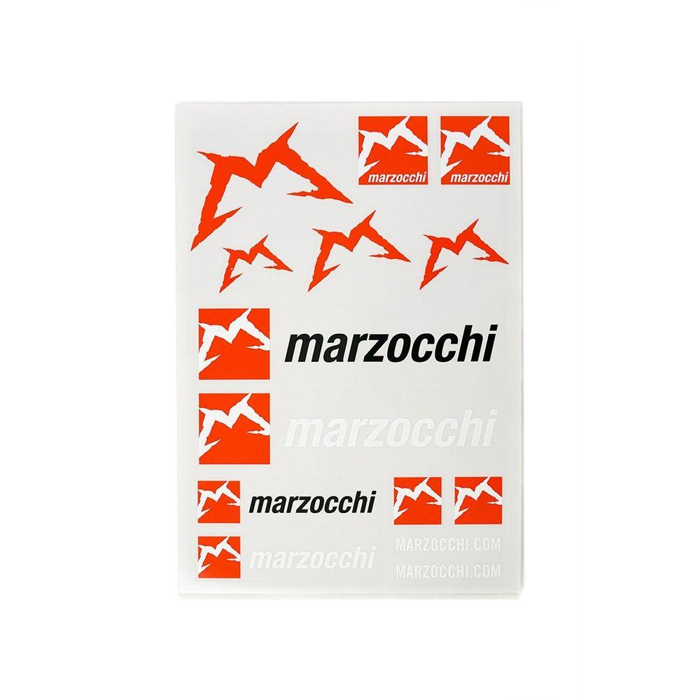 2019 MARZOCCHI STICKER KIT (13 Logos) DIN-A5 3-farbig