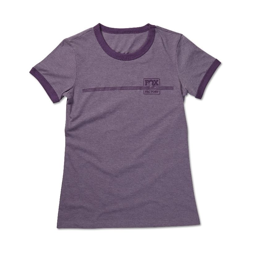 FOX Women''s Heritage Ringer Tee  52% Cotton/48% Poly  Heather Purple/Purple, versch. Grössen