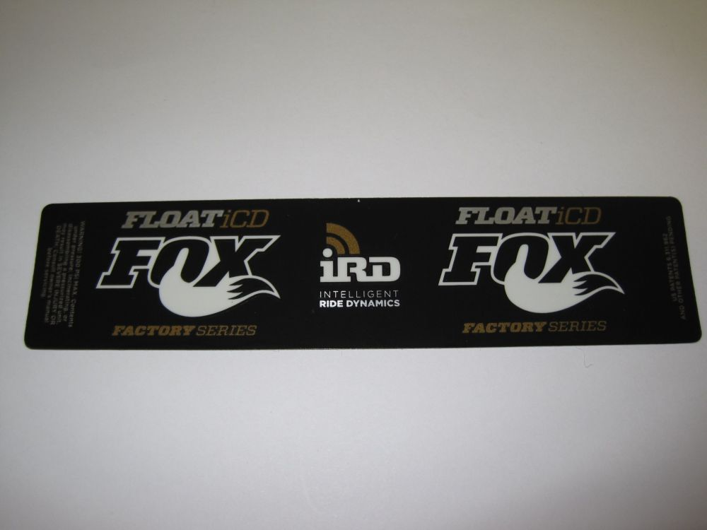 Decal: 2013 Factory FLOAT iCD, Gold XV