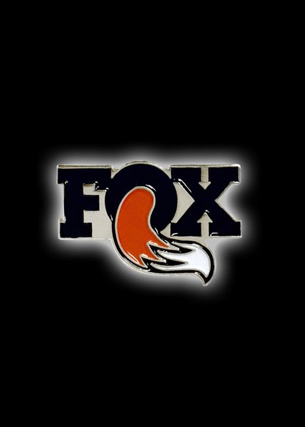 "FOX 1"" Pin Black/Orange"
