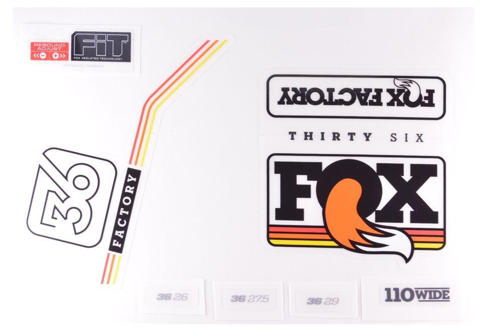 Decal Kit: 2016 36 Factory Series Black/Multi Logo