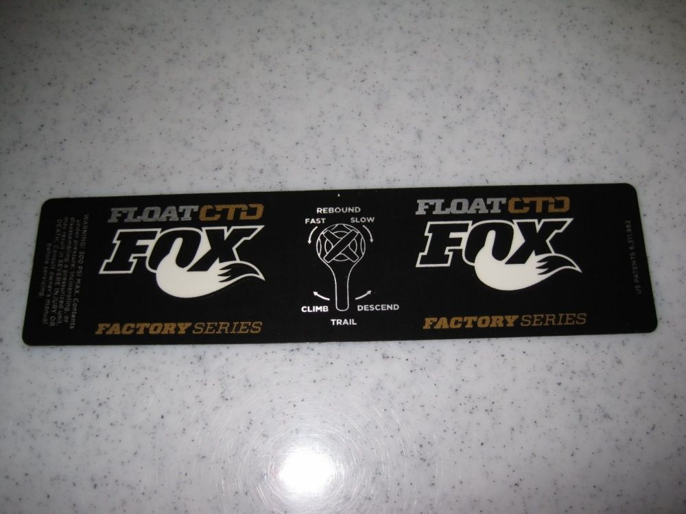Decal: 2013 FLOAT Factory Series CTD Dish Gold (6.5+)