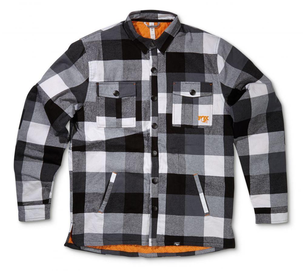 2016 FOX Heritage Loam Ranger Jacket Plaid/100% Polyester Black/White/Orange, versch. Grössen