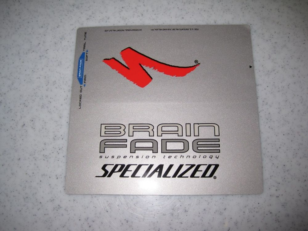 Decal: 06, 07 Brain Fade Specialized, Epic