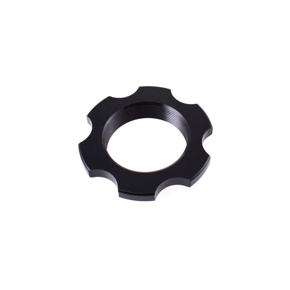 Spring Hardware: Ring Preload Collar (1.250-24 ID X 1.990 OD X .400 TLG) AL 6061 Black Ano Type III
