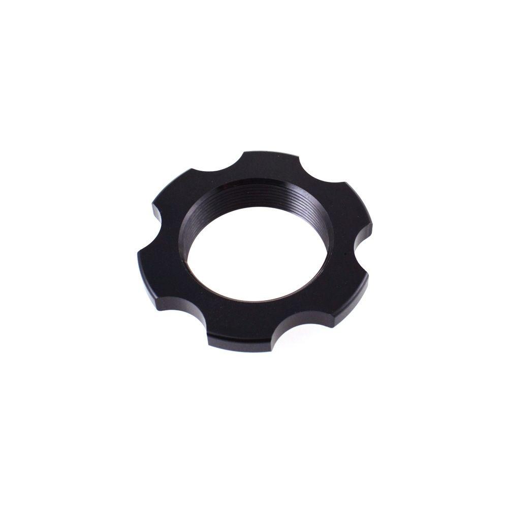Spring Hardware: Ring, Preload Collar (1.250-24 ID X 1.990 OD X .400 TLG) AL 6061, Black Ano Type III