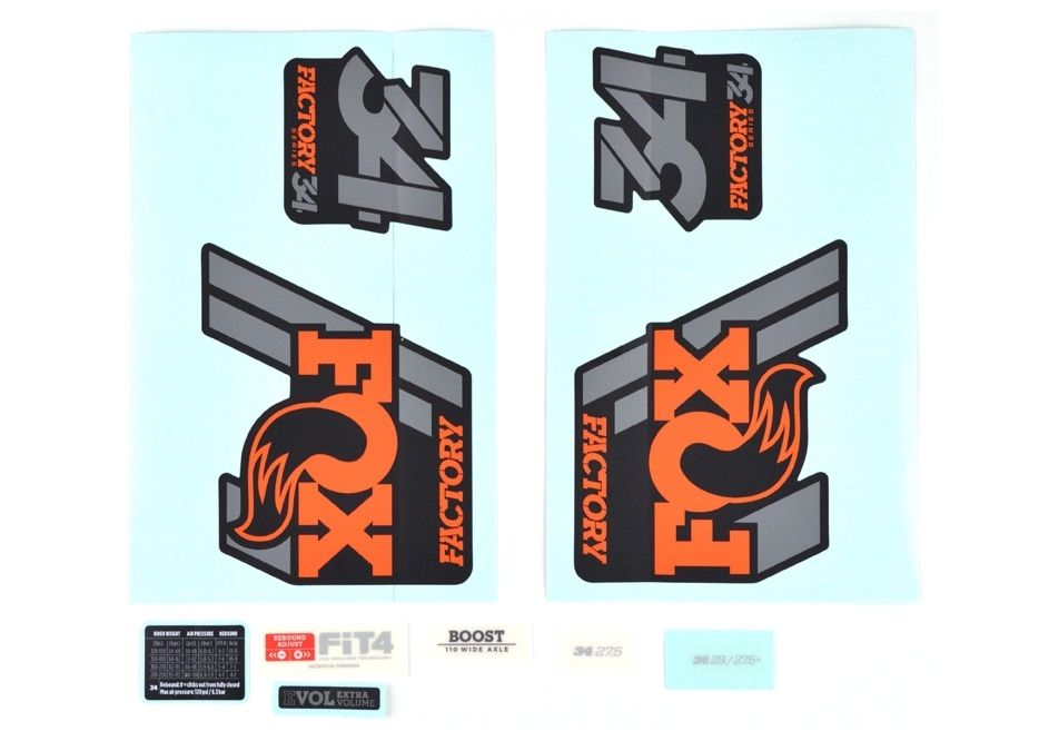 Decal Kit 2018 34 F S Orange Logo Matte Black Background