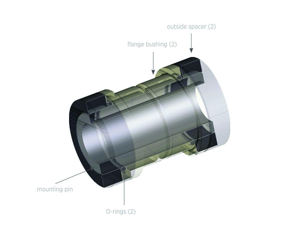 Kit: Mounting Hardware: 5 Piece AL (8mm Mounting Width 1.620) ref 214-09-031- 8mm x 4115