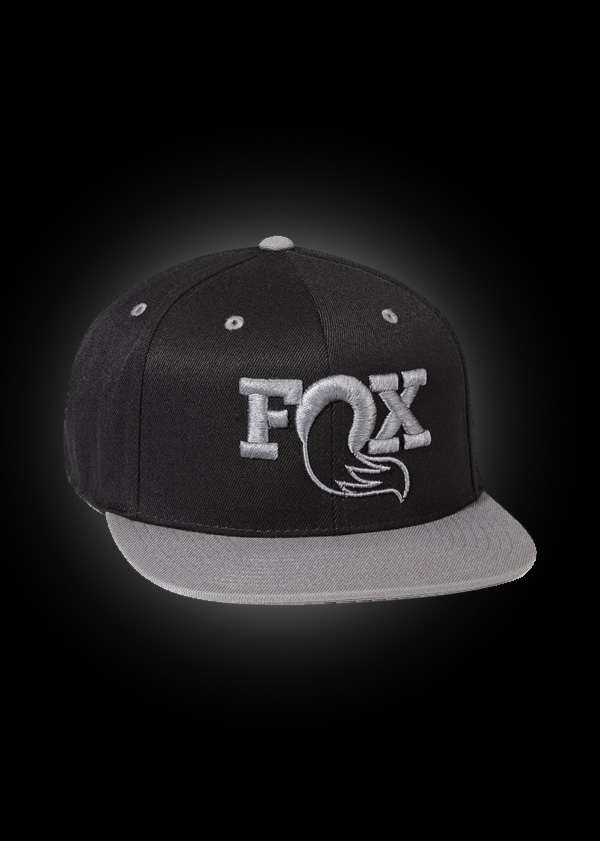 FOX Authentic Snapback Hat Black/Gray