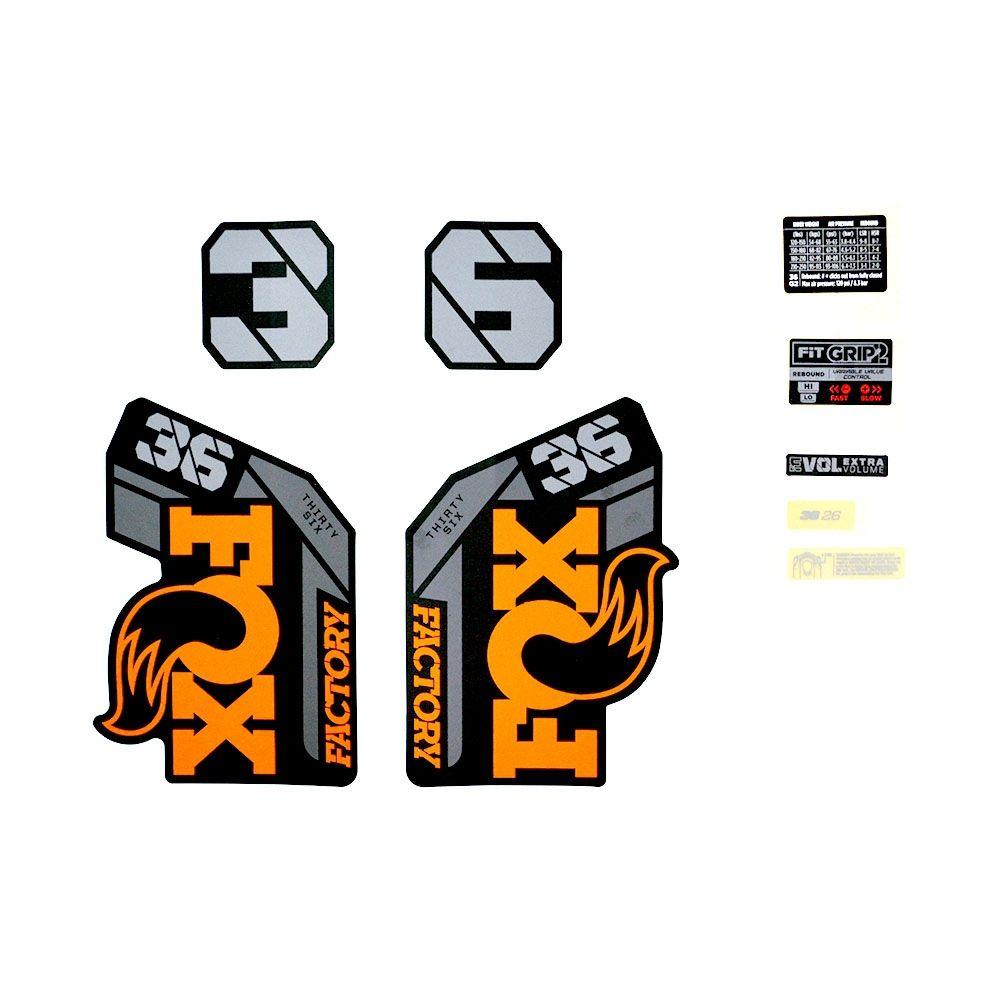 Decal Kit: 2021 36 F-S 26in Orange Logo Matte Black Fork