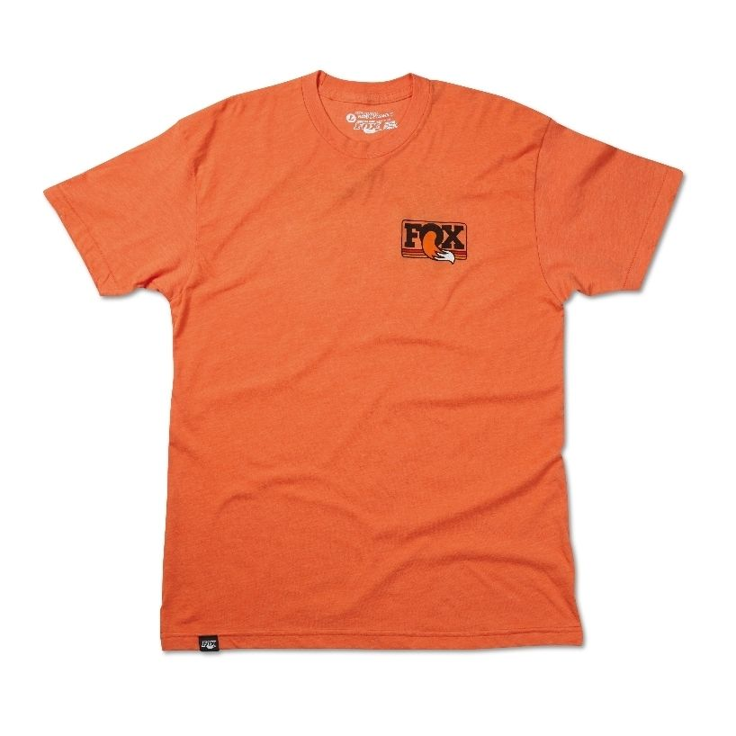 2015  FOX Men''s Heritage Crew Neck Tee  50% Cotton/50% Poly  Heather Orange , versch. Grössen