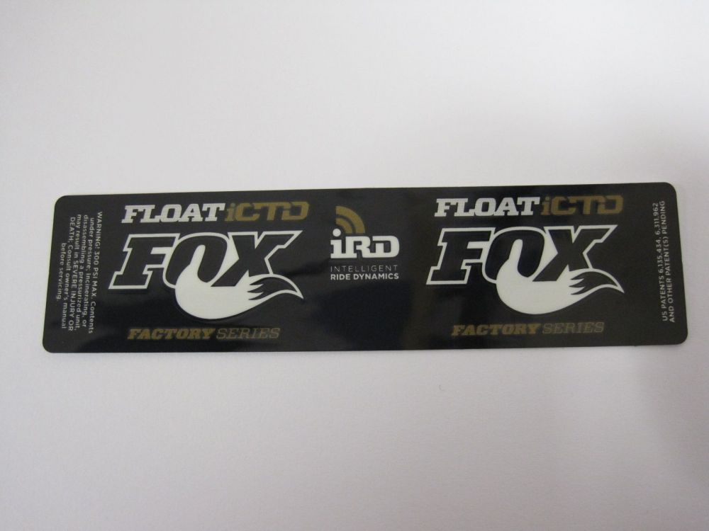 2015 Decal: Factory Float ICTD, Dish, Gold (6.5+)