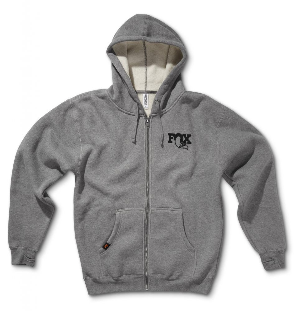 FOX Heavyweight Hoody 2.0, 80% Cotton/20% Poly, Gunmetal Heather, versch. Grössen