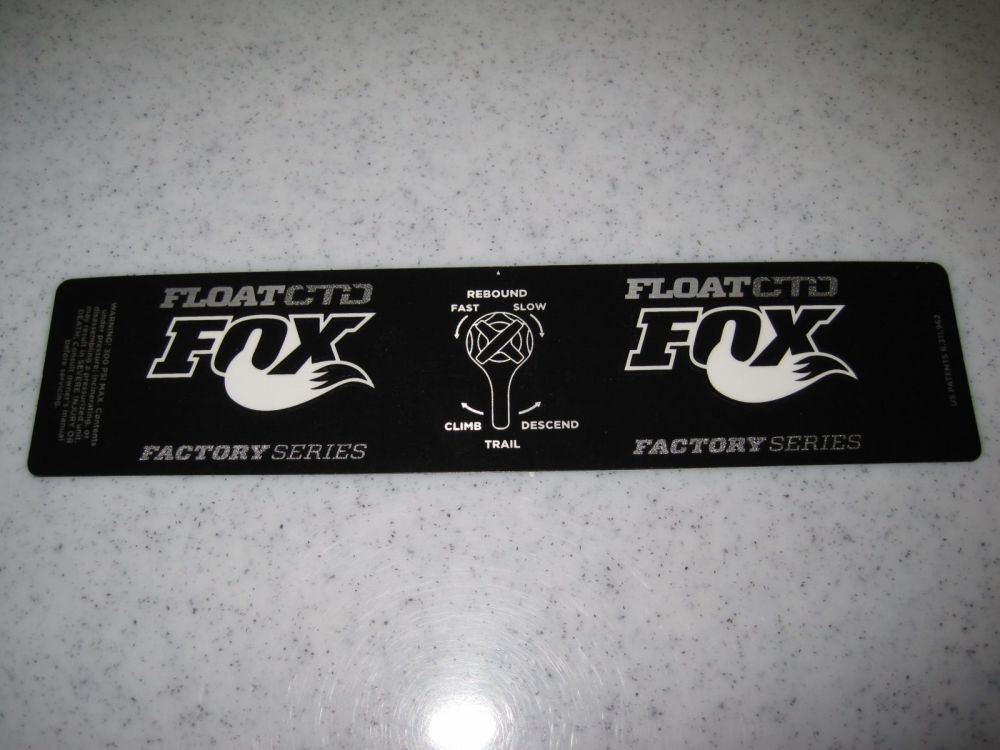 Decal: 2013 FLOAT Factory Series CTD Dish, No Gold XV