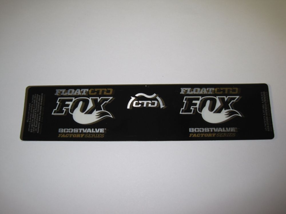 Decal: 2013 FLOAT Factory Series CTD Remote BV Gold XV