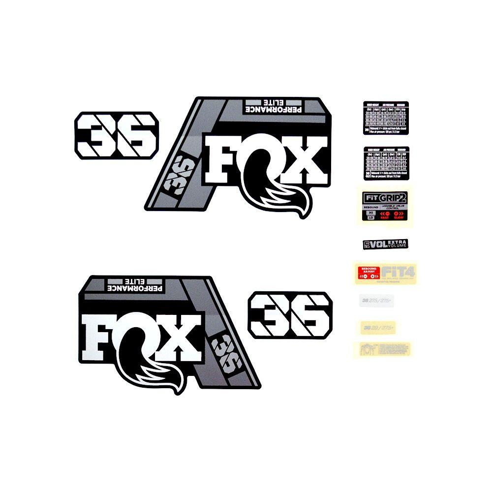 Decal Kit: 2021 36 P-SE Gray Logo Matte Black Fork
