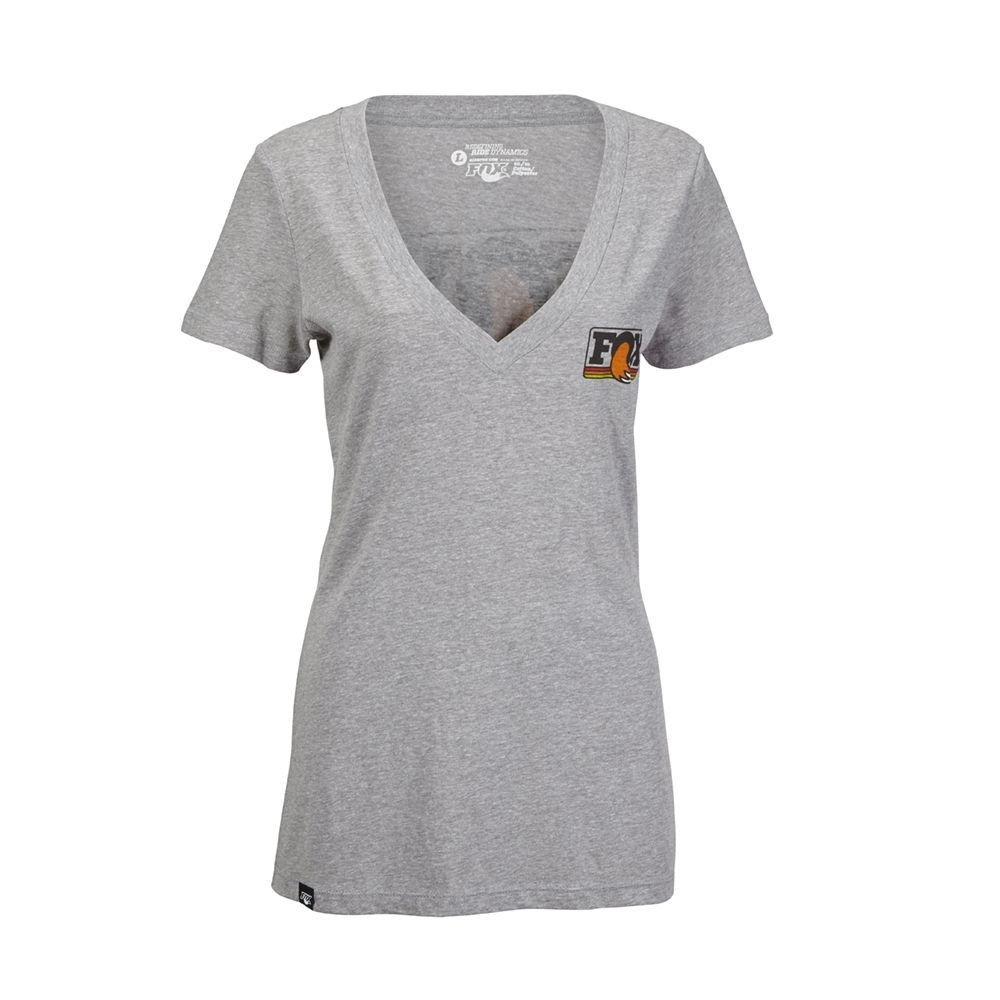 2015 Women''s Heritage V-Neck, 60% Cotton 40% Polyester, Dark Heather Grey, L