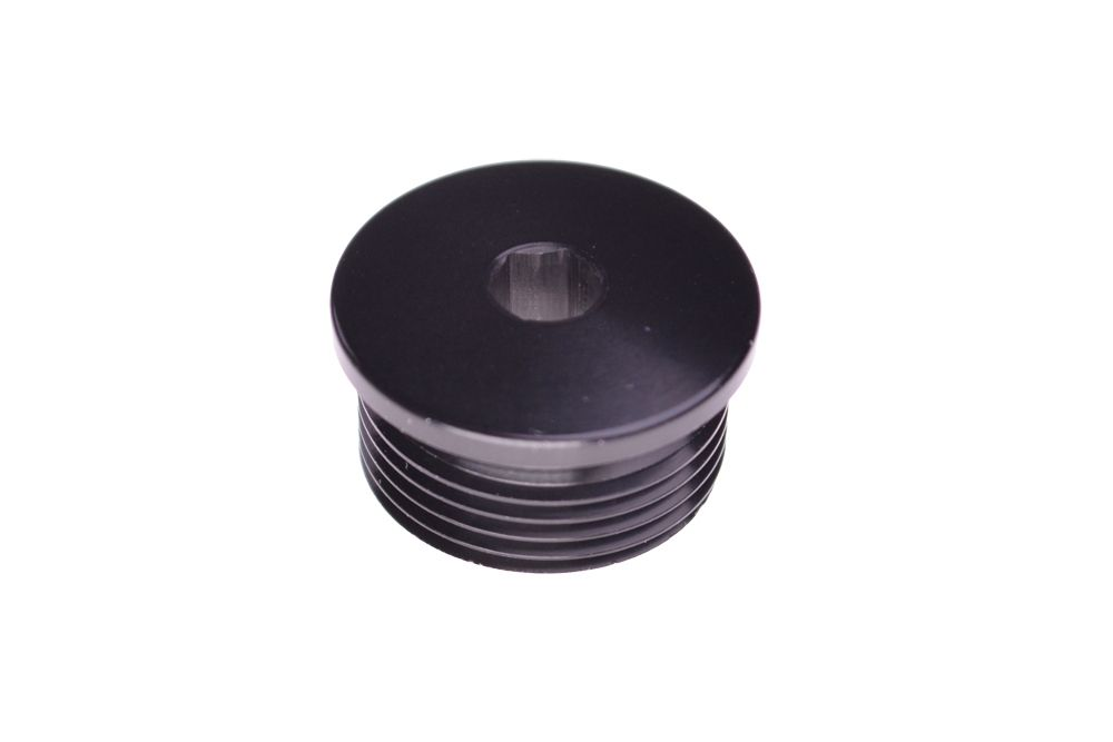 Shaft: Axle Cap 40_36 LH Thread Black Ano Type II Class 2