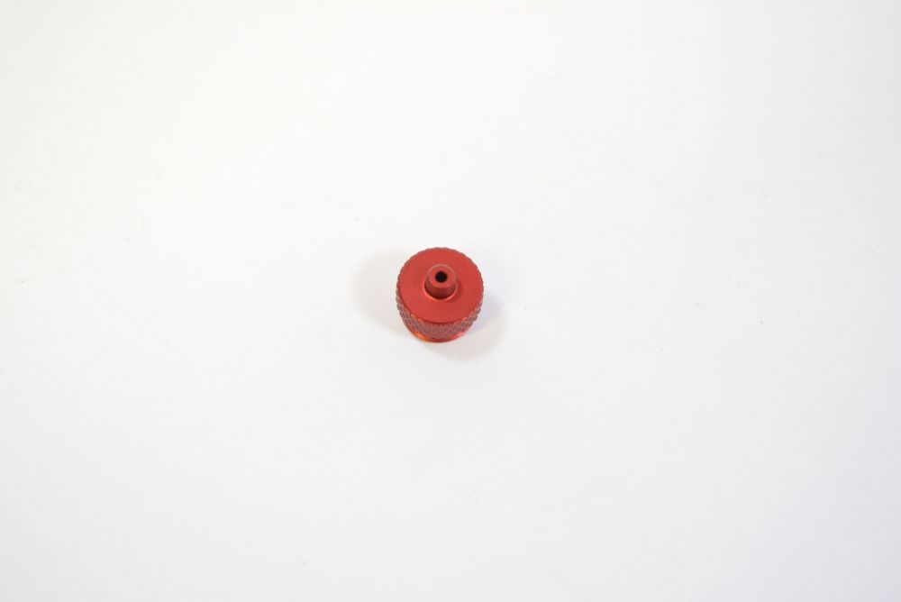 2017 Air Valve Part: Adaptor, Guide Bushing ( Ø 0.040 Bore, 0.300 TLG ) AI 7075, Red Ano II