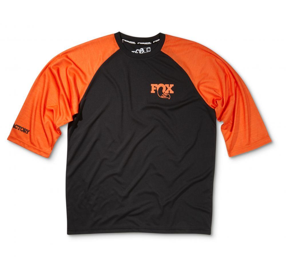 2016 FOX Heritage 3/4 Raglan Jersey Black/Orange, versch. Grössen